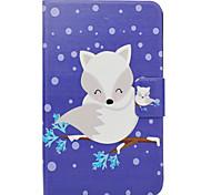 economico -Custodia Per Samsung Galaxy Tab 3 Lite Porta-carte di credito Con supporto Con chiusura magnetica Fantasia/disegno Integrale Cartoni