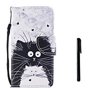 cheap -Case For Samsung Galaxy J7 (2017) J5 (2017) Card Holder Wallet Flip Full Body Cases Cat Hard PU Leather for J7 (2017) J5 (2017) J5 (2016)