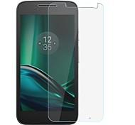 Недорогие -Защитная плёнка для экрана Motorola для MOTO G4 Закаленное стекло 1 ед. Защитная пленка для экрана Защита от царапин Уровень защиты 9H