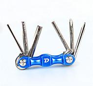 baratos -Ferramentas de Manutenção & Kits Chave de fenda, Kit de reparo, Não Deforma Ciclismo / Moto Aço de Carbono Preto / Vermelho / Azul - 1pcs