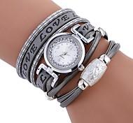 Недорогие -Жен. Кварцевый Наручные часы Китайский Имитация Алмазный Повседневные часы PU Группа На каждый день Мода Черный Белый Синий Красный