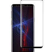Недорогие -Защитная плёнка для экрана Samsung Galaxy для S8 Plus Закаленное стекло 1 ед. Защитная пленка на всё устройство 3D закругленные углы
