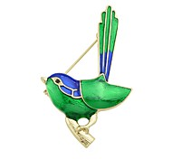 cheap -Women's Bird Brooches - Basic / Fashion Green Brooch For Daily / Date