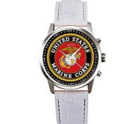 preiswerte -Herrn Quartz Armbanduhr Chinesisch Chronograph PU Band Elegant Schwarz Weiß Rosa