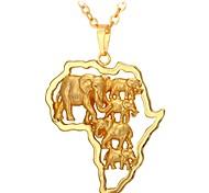 cheap -Men's / Women's Pendant Necklace - Fashion Gold 55 cm Necklace For Daily