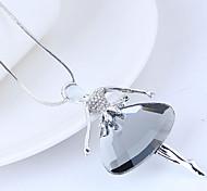 Недорогие -Жен. принцесса Ожерелья с подвесками  -  Мода Милая европейский Серый 70cm Ожерелье Назначение Для вечеринок
