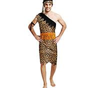 Недорогие -Индийский Маскарад Муж. Хэллоуин Фестиваль / праздник Костюмы на Хэллоуин Желтый Американский / США Этнический