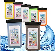 cheap -Case For Apple iPhone 6 iPhone 7 Wallet Water Resistant Waterproof Transparent Pouch Bag Solid Colored Soft ABS+PC for iPhone X iPhone 8
