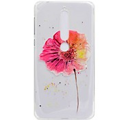 cheap -Case For Nokia Nokia 7 Plus Nokia 6 2018 Transparent Pattern Back Cover Flower Soft TPU for Nokia 7 Plus Nokia 6 2018 Nokia 6