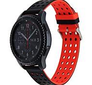 abordables -Ver Banda para Gear S3 Frontier Samsung Galaxy Hebilla Moderna Silicona Correa de Muñeca