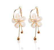 cheap -Women's Floral Flower Synthetic Opal / Rhinestone Gemstone / Zircon Drop Earrings - Floral Gold Earrings For Prom / Going out
