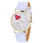 cheap -Women's Quartz Fashion Watch Chinese Large Dial PU Band Heart shape Casual Black White Blue Brown Green Pink Rose