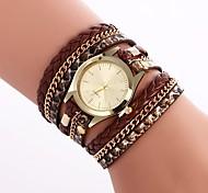 cheap -Women's Quartz Fashion Watch Chinese Casual Watch PU Band Bohemian Colorful Black White Silver Red Brown Gold Pink