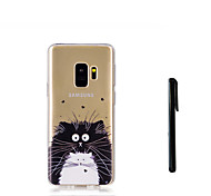 cheap -Case For Samsung Galaxy S9 S9 Plus Translucent Back Cover Cat Animal Soft TPU for S9 Plus S9 S8 Plus S8 S7 edge S7