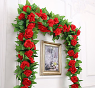 cheap -Artificial Flowers 1 Branch Party / Evening / Wedding Roses Wall Flower