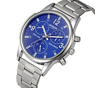 cheap -Men's Chinese Chronograph Stainless Steel Band Casual / Fashion Silver
