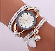 Недорогие -Жен. Кварцевый Модные часы Китайский Имитация Алмазный PU Группа На каждый день Мода Черный Белый Синий Красный Коричневый Серый