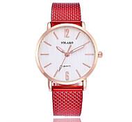 preiswerte -Damen Quartz Modeuhr Chinesisch Armbanduhren für den Alltag Plastic Band Minimalistisch Mehrfarbig Schwarz Weiß Blau Rot Grün Rosa Gelb