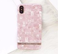 cheap -Case For Apple iPhone X / iPhone 7 Plus Pattern Back Cover Marble Soft TPU for iPhone X / iPhone 8 Plus / iPhone 8