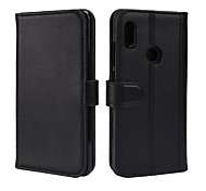 cheap -Case For Xiaomi Redmi Note 5 Pro Card Holder Wallet with Stand Flip Magnetic Full Body Cases Solid Colored Hard Genuine Leather for