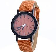 preiswerte -Damen Quartz Modeuhr Chinesisch Großes Ziffernblatt PU Band Minimalistisch Modisch Schwarz Orange Braun Grau