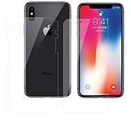 Недорогие -Защитная плёнка для экрана Apple для iPhone X TPG Hydrogel 2 штs Защитная пленка для экрана и задней панели Против отпечатков пальцев