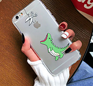 baratos -Capinha Para Apple iPhone X iPhone 8 iPhone 8 Plus Capinha iPhone 5 iPhone 6 iPhone 7 Ultra-Fina Transparente Estampada Capa traseira