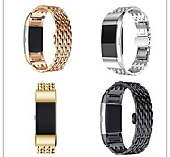 cheap -Watch Band for Fitbit Charge 2 Fitbit Butterfly Buckle Metal Stainless Steel Wrist Strap