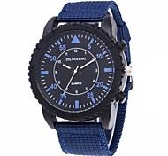 baratos -Homens Quartzo Relógio de Pulso / Relógio Elegante Chinês Cronógrafo / Criativo / Mostrador Grande Tecido Banda Luxo Preta