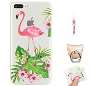 cheap -Case For Apple iPhone X / iPhone 8 Plus Pattern Back Cover Flamingo Soft TPU for iPhone X / iPhone 8 Plus / iPhone 8