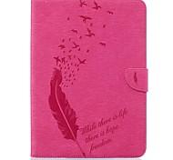 Недорогие -Кейс для Назначение SSamsung Galaxy Tab S2 9.7 Бумажник для карт Кошелек со стендом С узором Авто Режим сна / Пробуждение Чехол Перья
