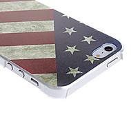 baratos -Capinha Para iPhone 5 / Apple Capinha iPhone 5 Estampada Capa traseira Bandeira Rígida PC para iPhone SE / 5s / iPhone 5