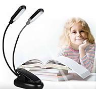Недорогие -1шт LED Night Light Тёплый белый Белый Теплый белый + белый Аккумуляторы AAA Регулируется Диммируемая Читая книгу с клипом прикроватный