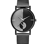 Недорогие -Муж. Наручные часы Китайский Новый дизайн / Секундомер / Творчество сплав / Кожа Группа Винтаж / На каждый день Черный / Серебристый
