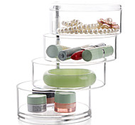 Недорогие -пластик Круглый Новый дизайн Главная организация, 1шт Ящики / Хранение косметики / Органайзеры для стола