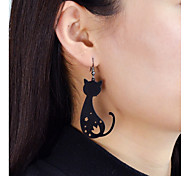 cheap -Drop Earrings - Cat, Flower, Star Fashion Gold / Black For Daily / Date