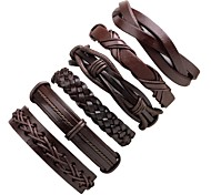 cheap -Stack Leather Bracelet - Fashion Bracelet Black For Ceremony / Street