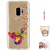 cheap -Case For Samsung Galaxy S9 Plus / S9 Pattern Back Cover Butterfly Soft TPU for S9 / S9 Plus