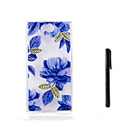 cheap -Case For Sony Xperia L2 Xperia L1 Translucent Back Cover Flower Soft TPU for Xperia XZ1 Compact Sony Xperia XZ1 Sony Xperia XA2 Sony