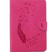 Недорогие -Кейс для Назначение SSamsung Galaxy Tab S2 8.0 Бумажник для карт Кошелек со стендом С узором Авто Режим сна / Пробуждение Чехол Перья