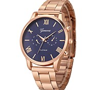 cheap -Men's / Women's Sport Watch Chinese Chronograph / Large Dial / Casual Watch Stainless Steel Band Minimalist / Fashion Silver / Rose Gold