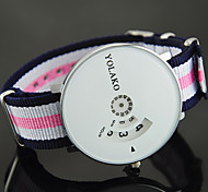 cheap -Women's Wrist Watch Chinese Casual Watch Nylon Band Colorful / Fashion Blue / Red / Green