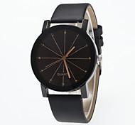 cheap -Men's / Women's Wrist Watch Chinese Large Dial Leather Band Minimalist / Fashion Black