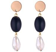 cheap -Women's Long Drop Earrings - Fashion Dark Blue / Blue For Daily / School