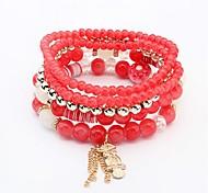 cheap -Women's Synthetic Tanzanite Layered / Stack Strand Bracelet - Owl Bohemian, Fashion, Boho Bracelet Black / Red / Green For Ceremony / Office & Career