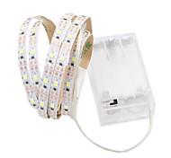 Недорогие -1m Гибкие светодиодные ленты 60 светодиоды 2835 SMD Тёплый белый / Белый Можно резать / Декоративная / Самоклеющиеся Аккумуляторы AA 1шт