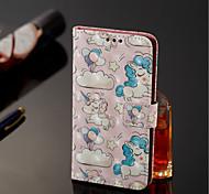 Недорогие -Кейс для Назначение Nokia Nokia 7 Plus / Nokia 6 2018 Кошелек / Бумажник для карт / со стендом Чехол единорогом Твердый Кожа PU для Nokia