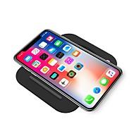 Недорогие -Беспроводное зарядное устройство Зарядное устройство USB USB с кабелем / Беспроводное зарядное устройство / Qi 2 A / 1 A DC 9V / DC 5V iPhone X / iPhone 8 Pluss / iPhone 8