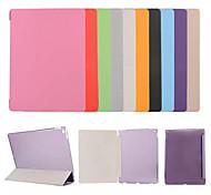 abordables -Funda Para Apple iPad (2018) / iPad 4/3/2 con Soporte / Flip / Origami Funda de Cuerpo Entero Un Color / Flor Dura Cuero de PU para iPad Air / iPad 4/3/2 / iPad Mini 3/2/1