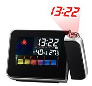 cheap -Digital LCD Screen Weather Station Forecast Calendar Projector Snooze Alarm Clock